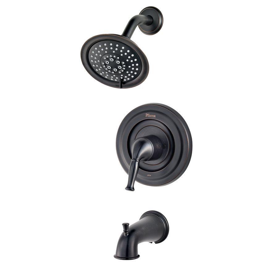 Pfister Universal Trim Tuscan Bronze 1-Handle Bathtub and Shower ...