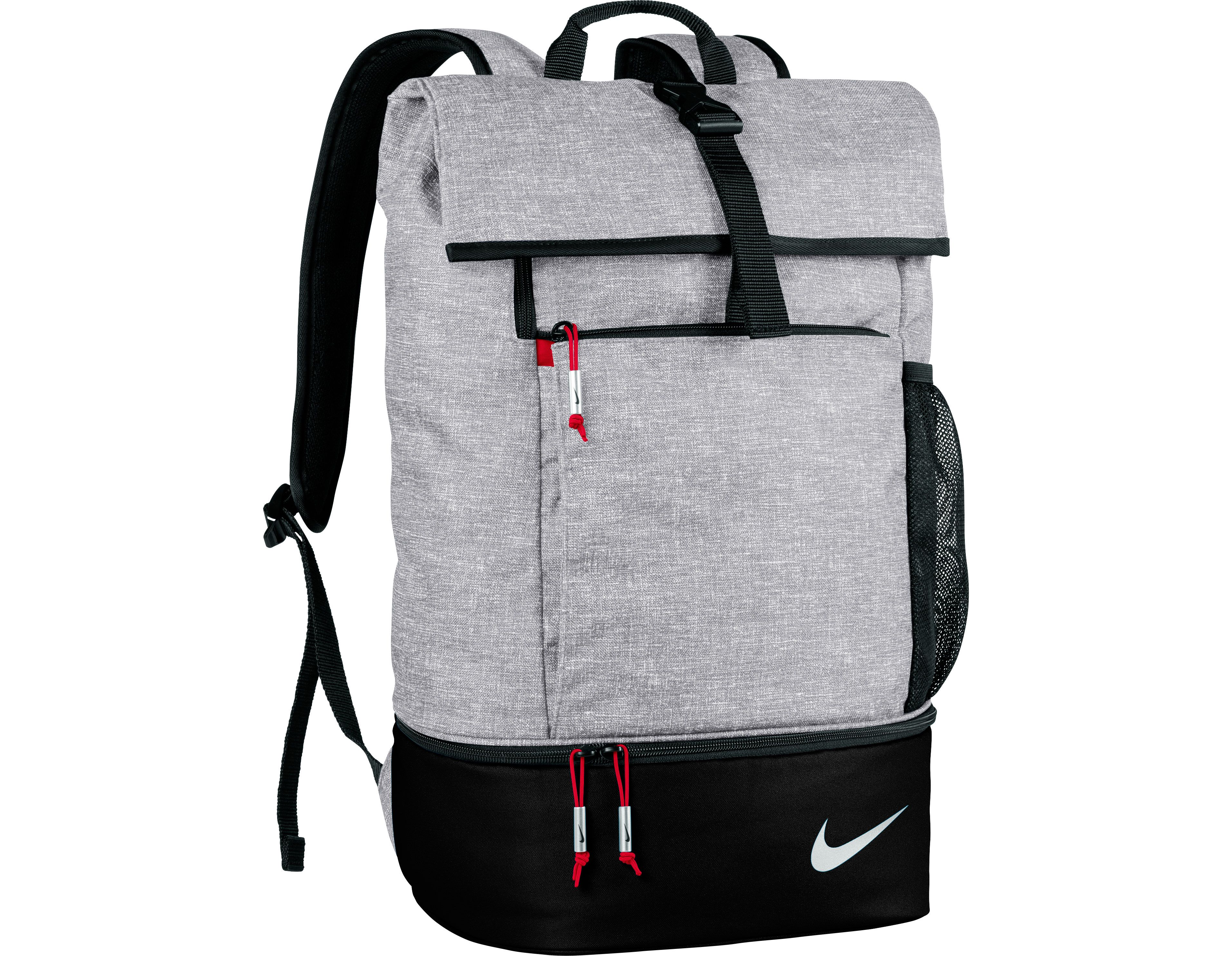eda4ae5b94 Check out what has for your days on and off the golf course   Silver Black Gym Red Nike Ladies Men s Sport Golf Backpack