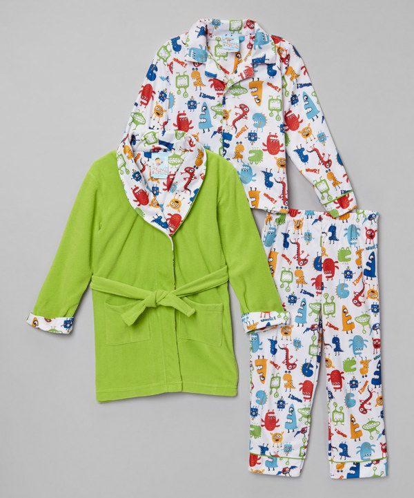 18d4d4c21 Look at this Green Monster Mash Pajama Set - Kids on  zulily today ...