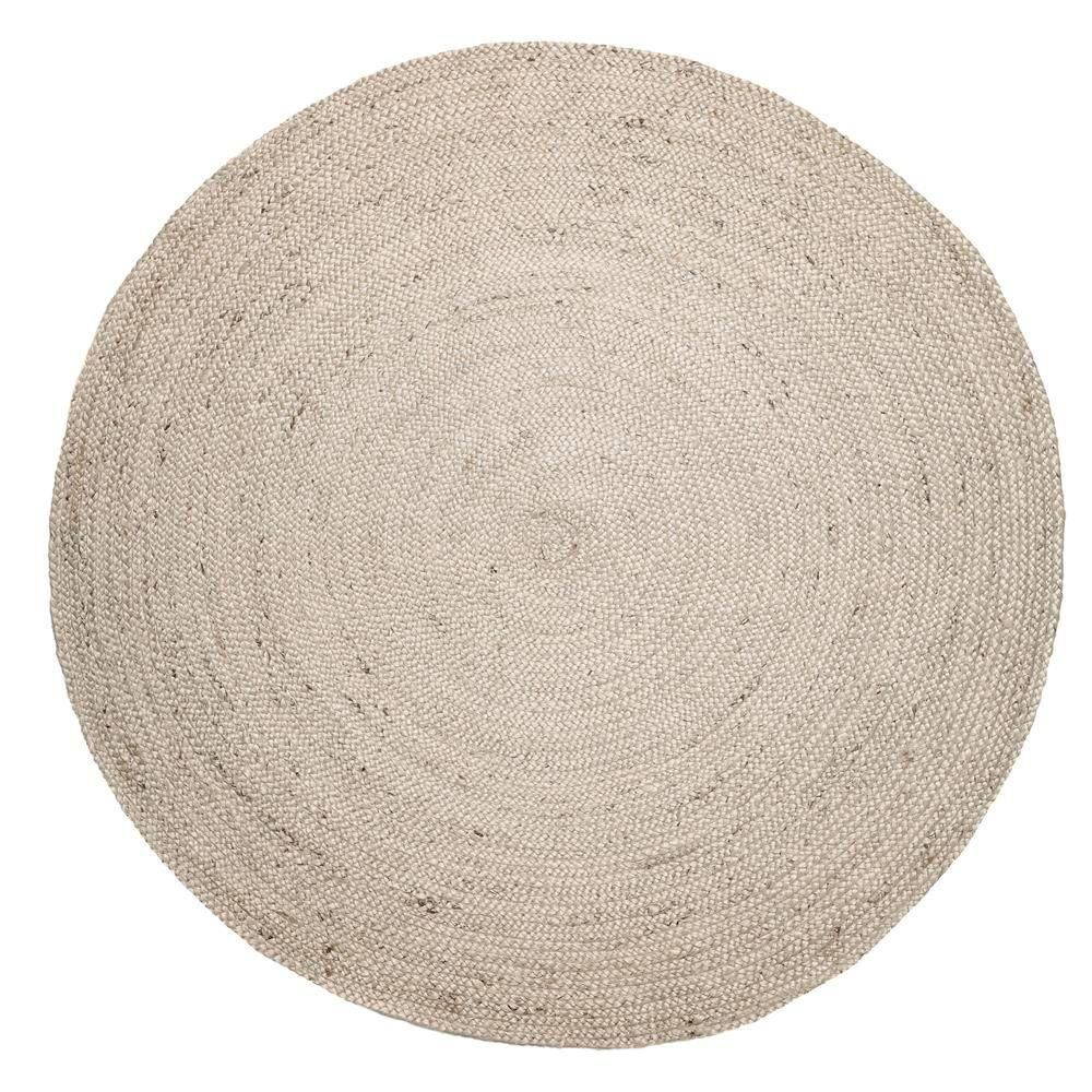 Anji Mountain Kerala Tan Braided 8 Ft Jute Round Area Rug Amb0328
