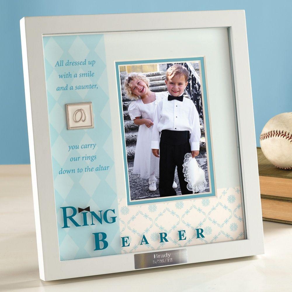 Ring Bearer Frame | #exclusivelyweddings | #ringbearergifts | My ...