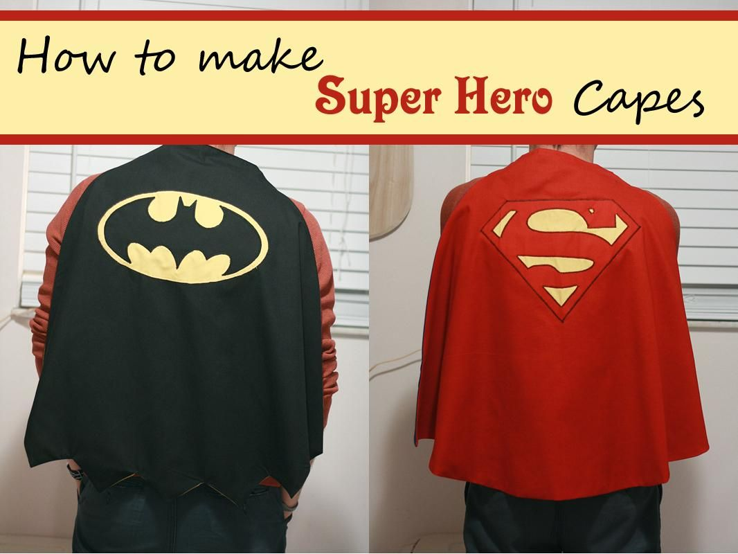 DIY Tutorial: DIY Superhero Costume / Tutorial Thursday: Super Hero ...