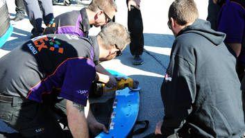 NASCAR confiscates splitters from three Joe Gibbs Racing teams - http://blog.clairepeetz.com/nascar-confiscates-splitters-from-three-joe-gibbs-racing-teams/