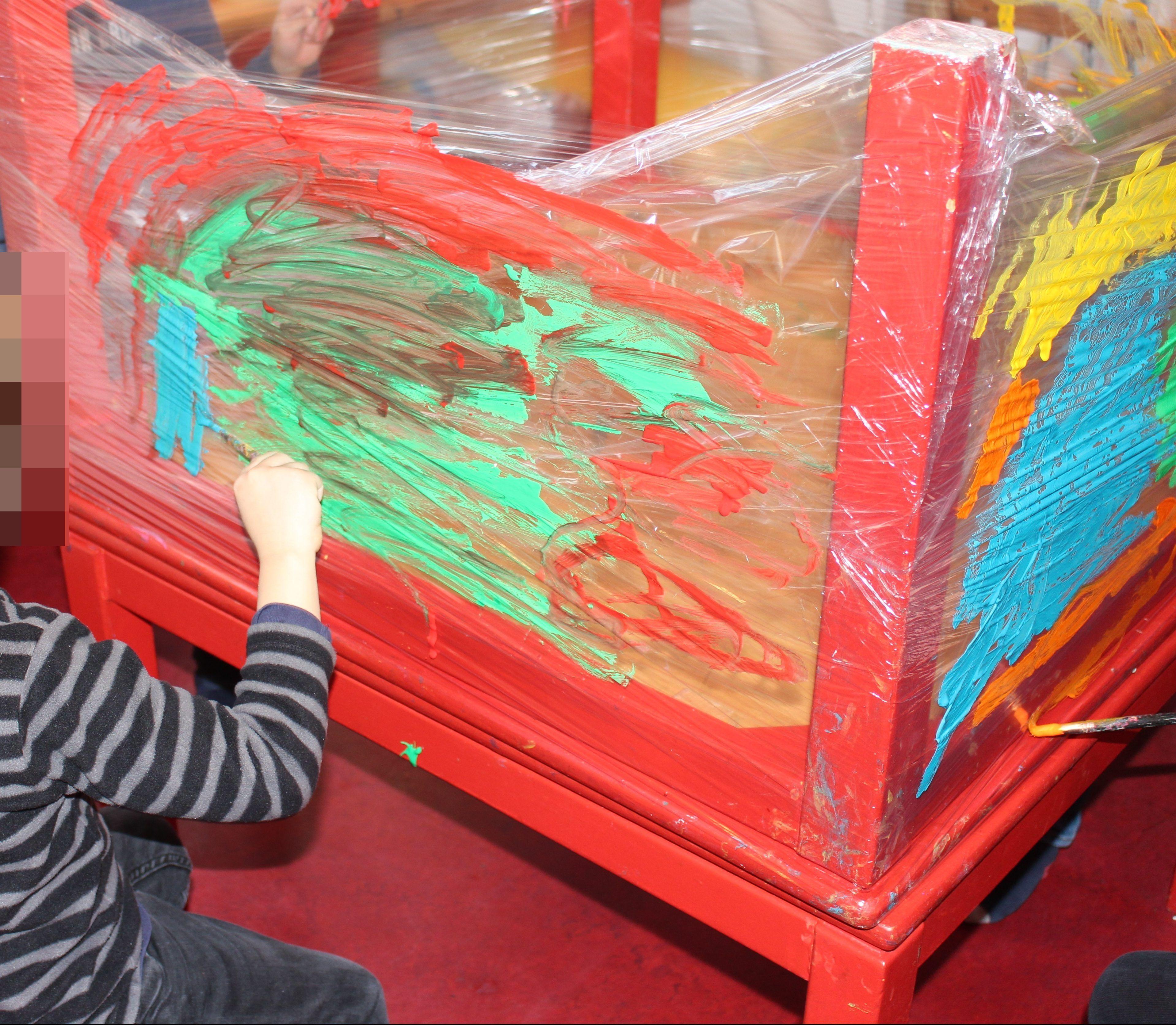 In Arte Nino 2016 papel film transparente arte pintura niños | pinturas para