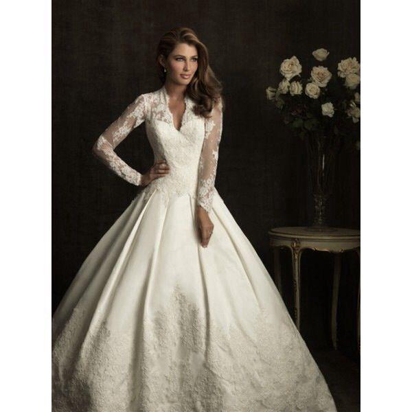Allure Modest Wedding Gowns: Beautiful Long Sleeve Wedding Dress