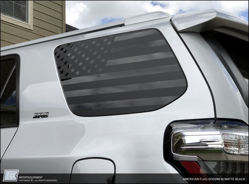 Custom american flag side window decals choose your size importequipment