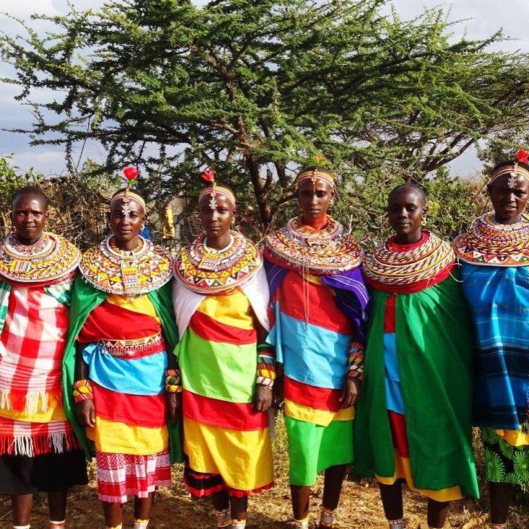 Bright colours for your Sunday morning! Ladies celebrating in a local village! #loisaba #laikipia #kenya #whyilovekenya