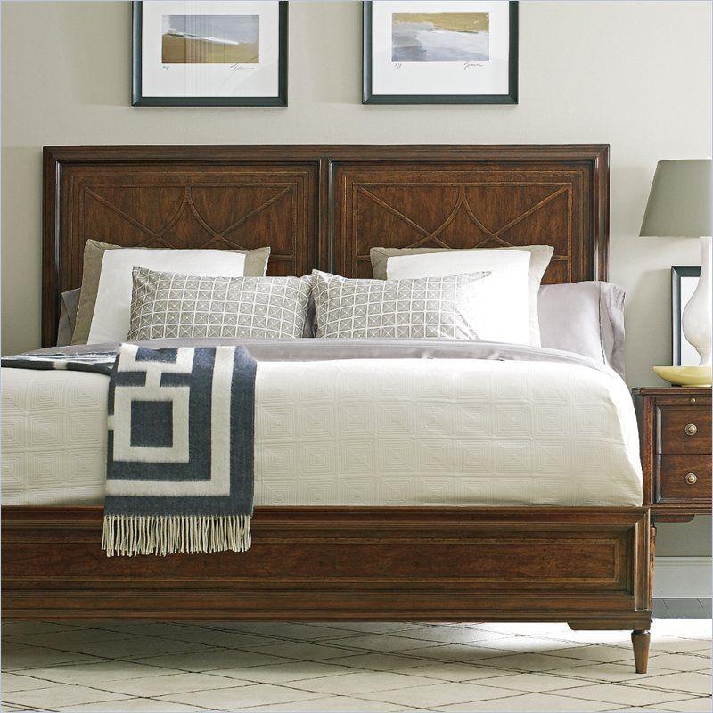 Stanley Furniture Classic Portfolio Vintage Wood Bed In Heirloom
