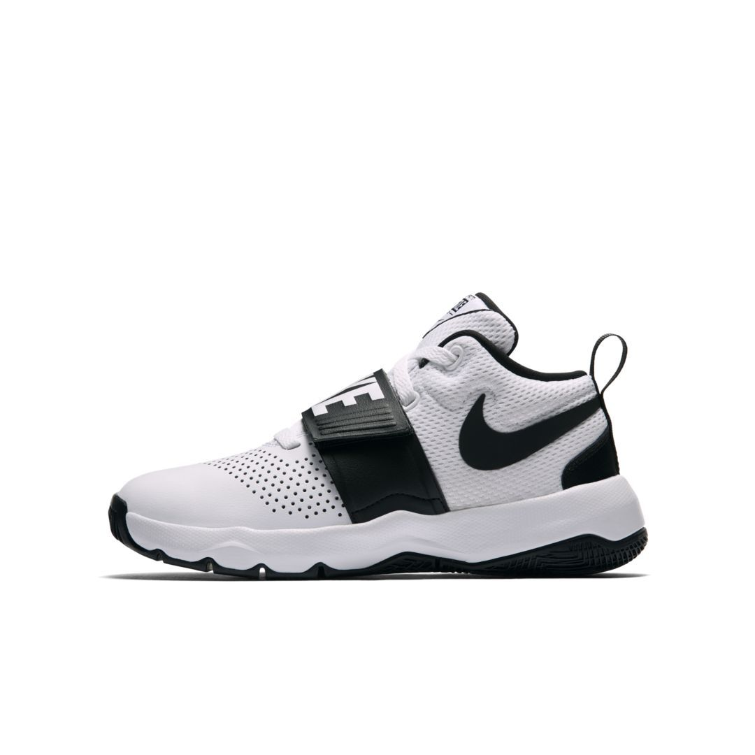 bfa07cd982 Nike Team Hustle D 8 Big Kids' Basketball Shoe Size 3.5Y (White) in ...