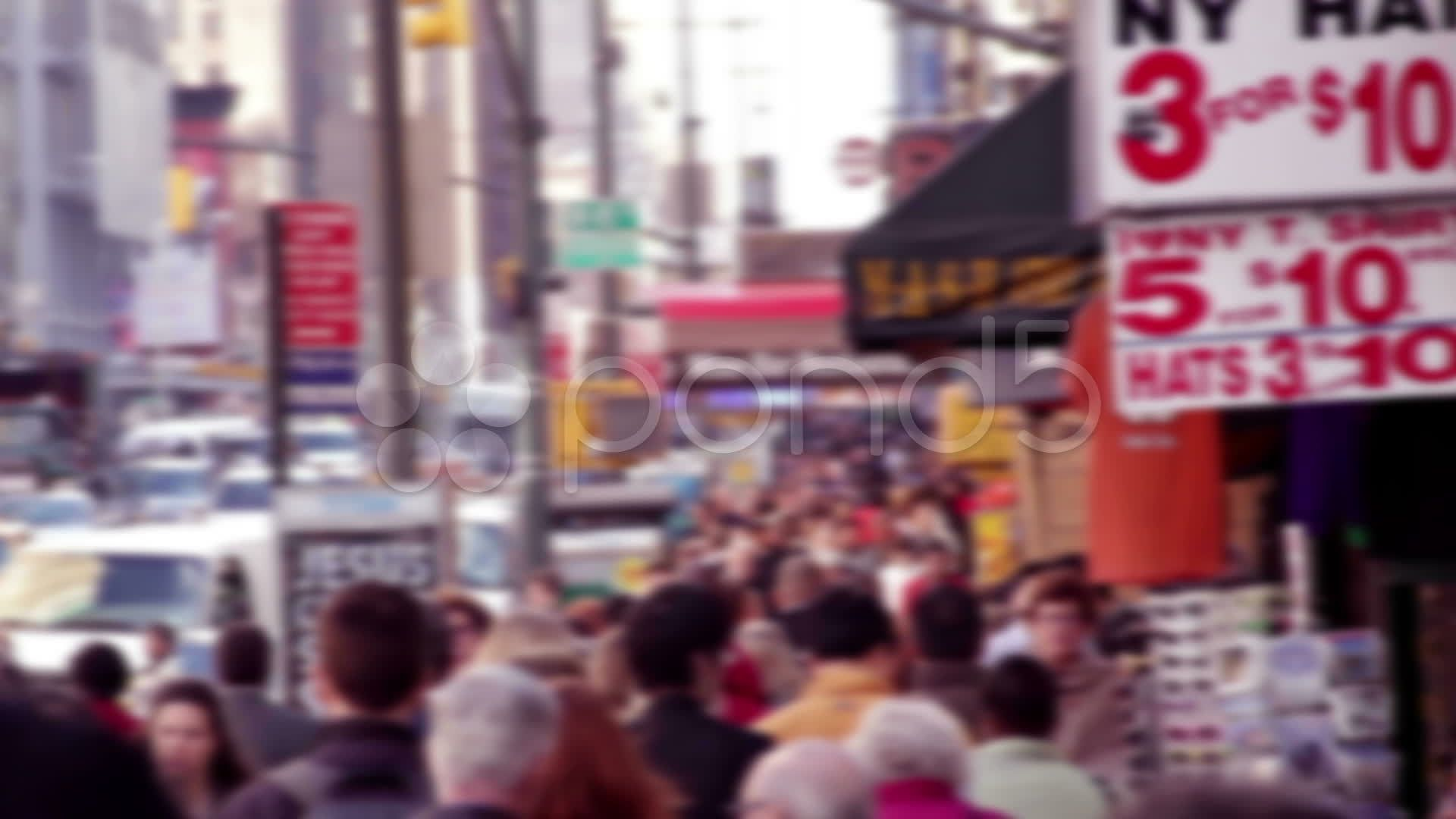 Unrecognizable people and congestion in New York City HD814 Stock Footage congestionYorkUnrecognizablepeople