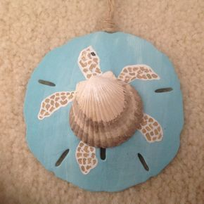 Sea Turtle, Honu, Hand Painted Sand Dollar Ornament, Beach Ornament, Beach Christmas, Seashell Turtle - #Beach #Christmas #dollar #Hand #Honu #Ornament #Painted #Sand #SEA #Seashell #Turtle #kreativehandwerke