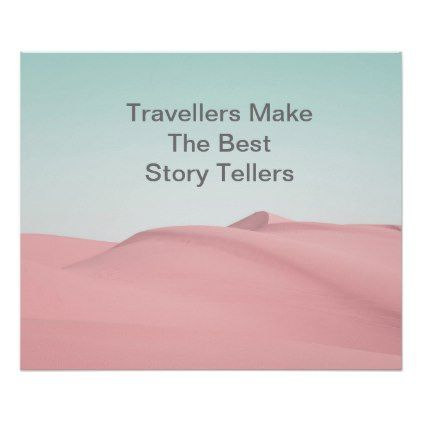 Sand Dunes Desert Sky PhotoTravel Quote Poster