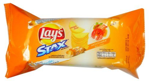 "3 Packets Thai Food Snack Potato Chips Grade A ""LAY'S STAX"" Spicy Labster Reduce saturated fat by 50% 40g Lay's Stax http://www.amazon.com/dp/B00863RYHA/ref=cm_sw_r_pi_dp_I3Irub076SFC6"