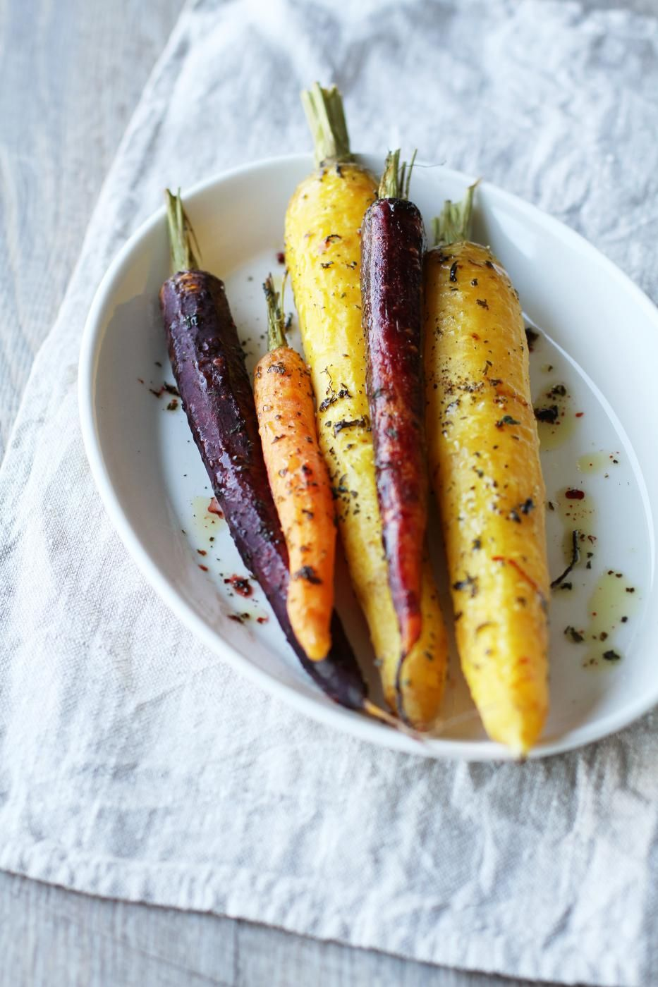 Roasted honey and thyme carrots, Fanni & Kaneli