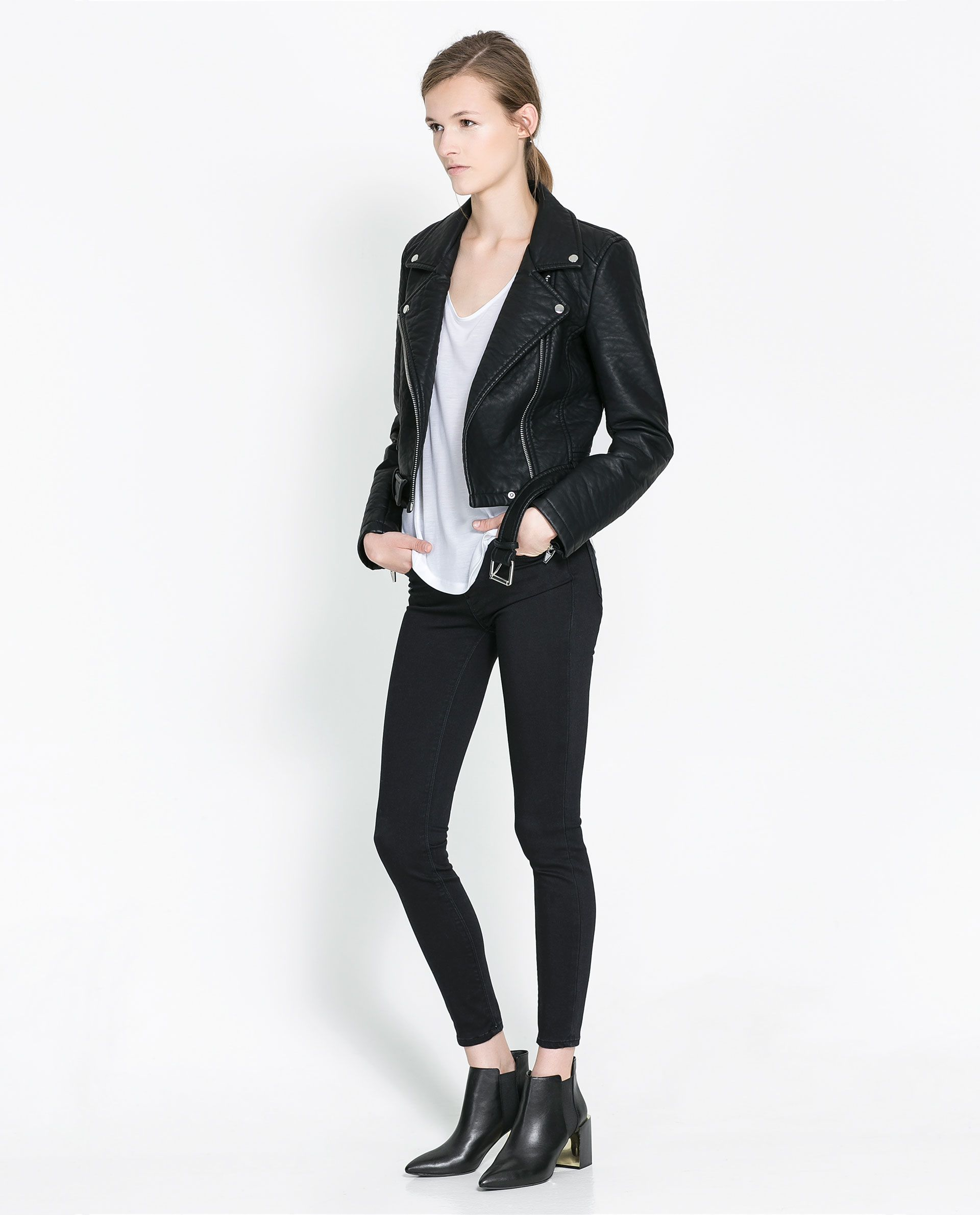 faux leather biker jacket blazers woman new