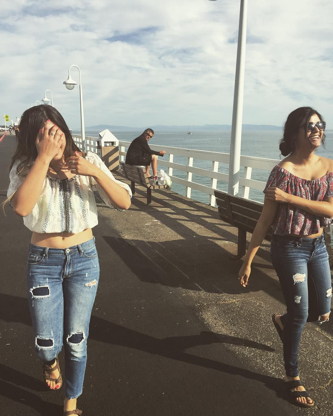 Santa Cruz CA: Guy in the back: maybe if I wear my shades they won't notice me staring at them by ashleyyvone