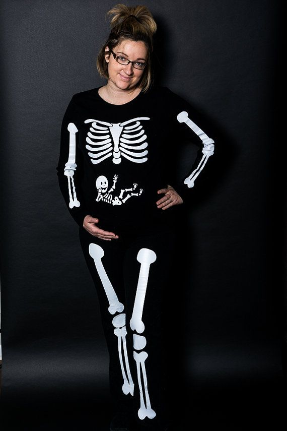 Full Body Mommy   Baby Arms Legs Pregnant Skeleton Iron On for DIY  Halloween Maternity Costume Shirt 3db1fb665