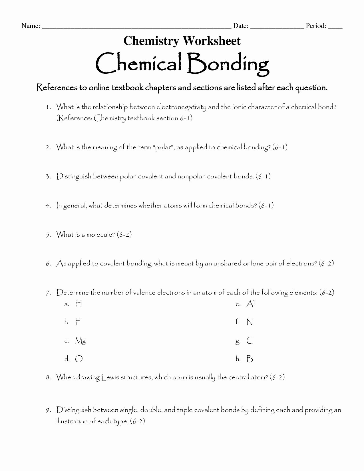 Covalent Bonding Worksheet Answer Key Unique 16 Best Of