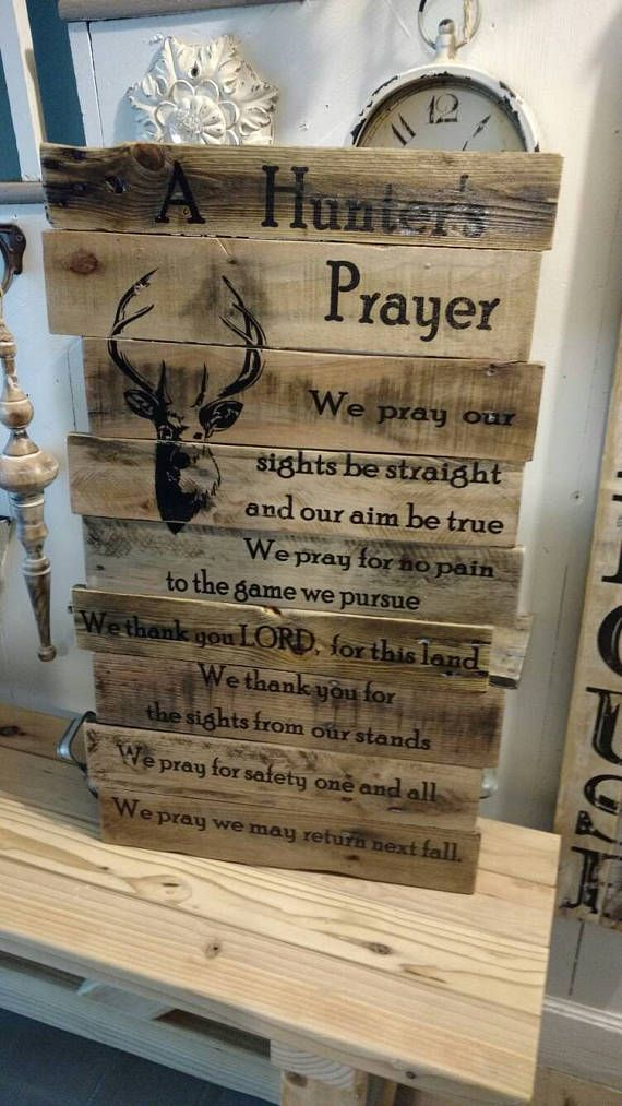 reclaimed wood pallet wood hunter s prayer father s with on fantastic repurposed furniture projects ideas in time for father s day id=21240