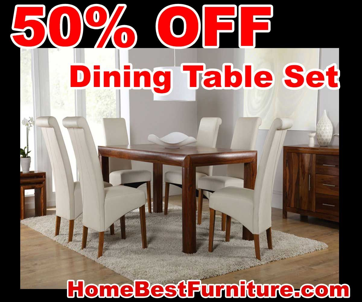 sale discount kerala sheesham dining table 180cm with 6 richmond
