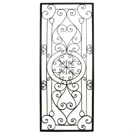 Tuscan 64 Large Rectangular Wrought Iron Wall Grille Plaque