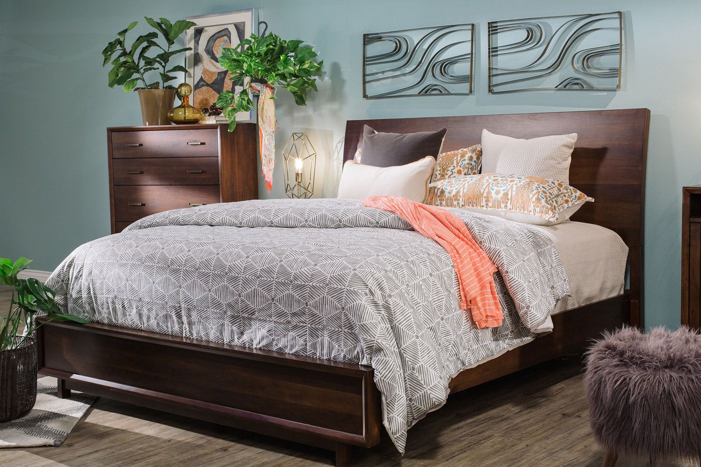 aspen walnut heights suite mathis brothers furniture bedroom