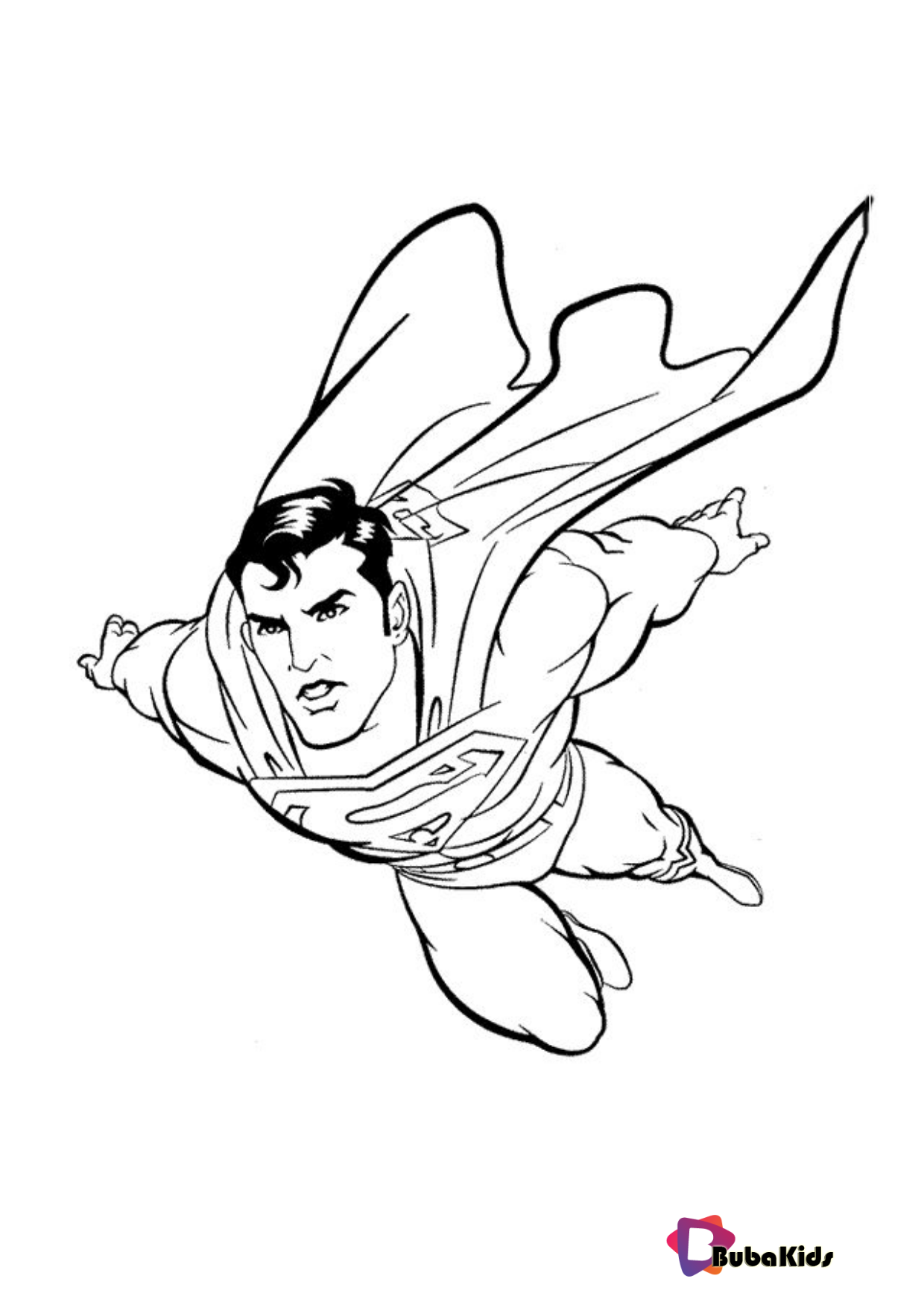 Superman Printable Coloring Pages On Bubakids Com Coloring Coloring Sheet Pages Su Superman Coloring Pages Avengers Coloring Pages Superhero Coloring Pages