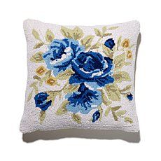 Clever Carriage Home Bella Rose Hooked Pillow