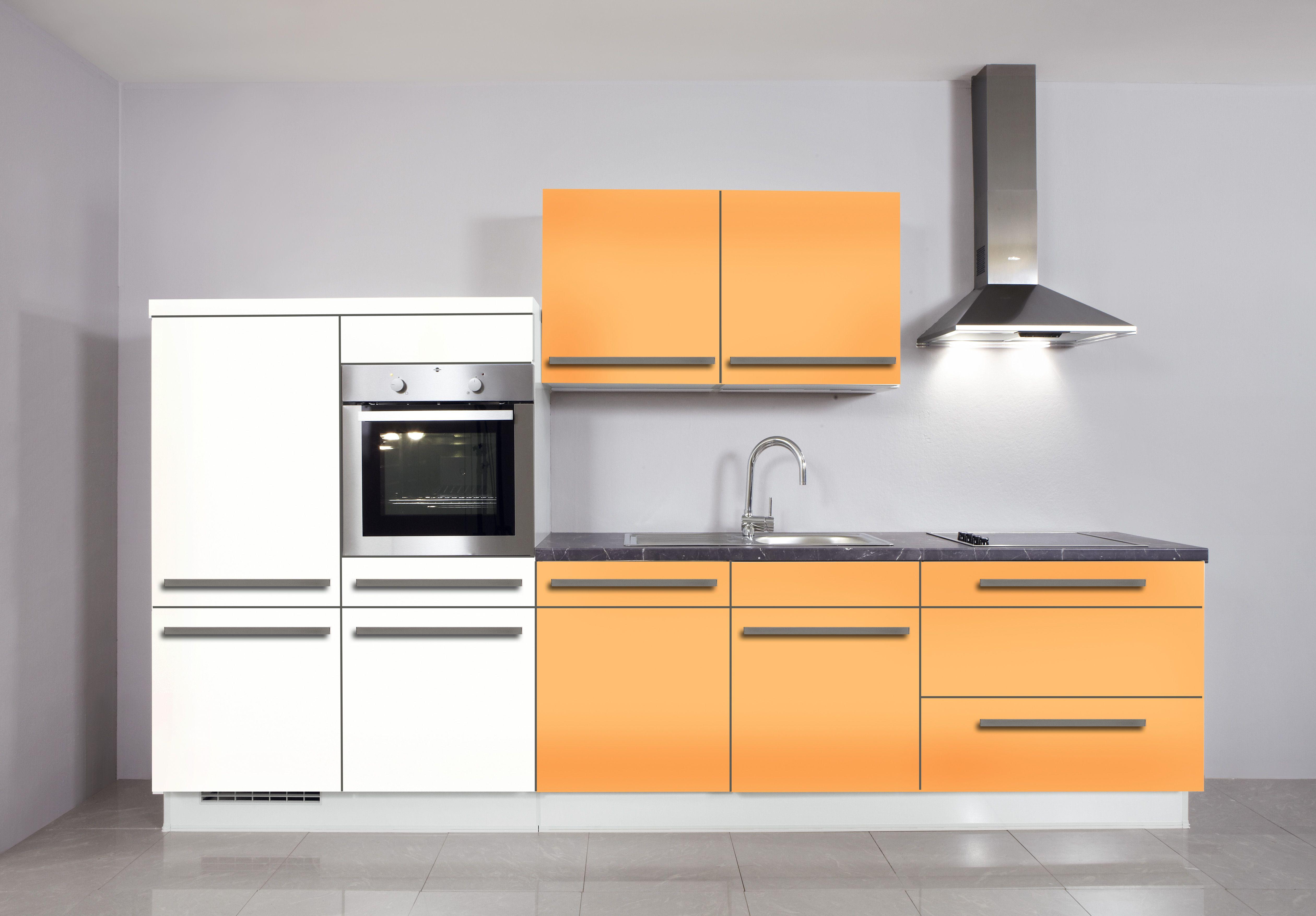 Beautiful  K che in Orange K chenzeile dyk kuechen de