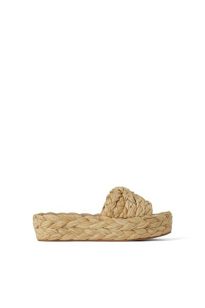 126e74c238 ZARA - Female - Natural raffia platform wedges - Natural - 5, 2019 ...