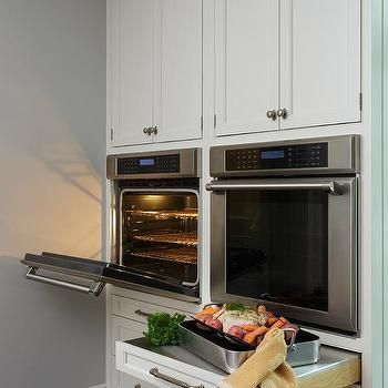 Stainless Steel Pull Out Shelf Below Wall Oven Kitchen Plans Wall Oven Kitchen Renovation