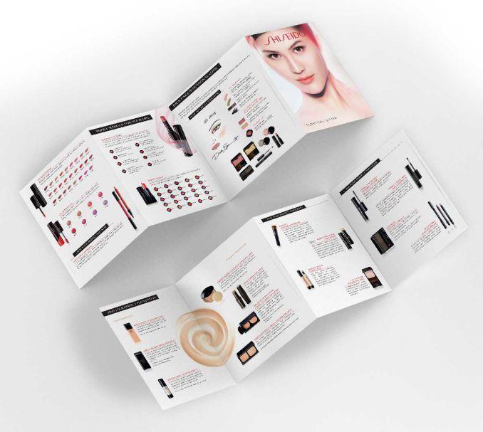 cr u00e9ation d u00e9pliant pour shiseido