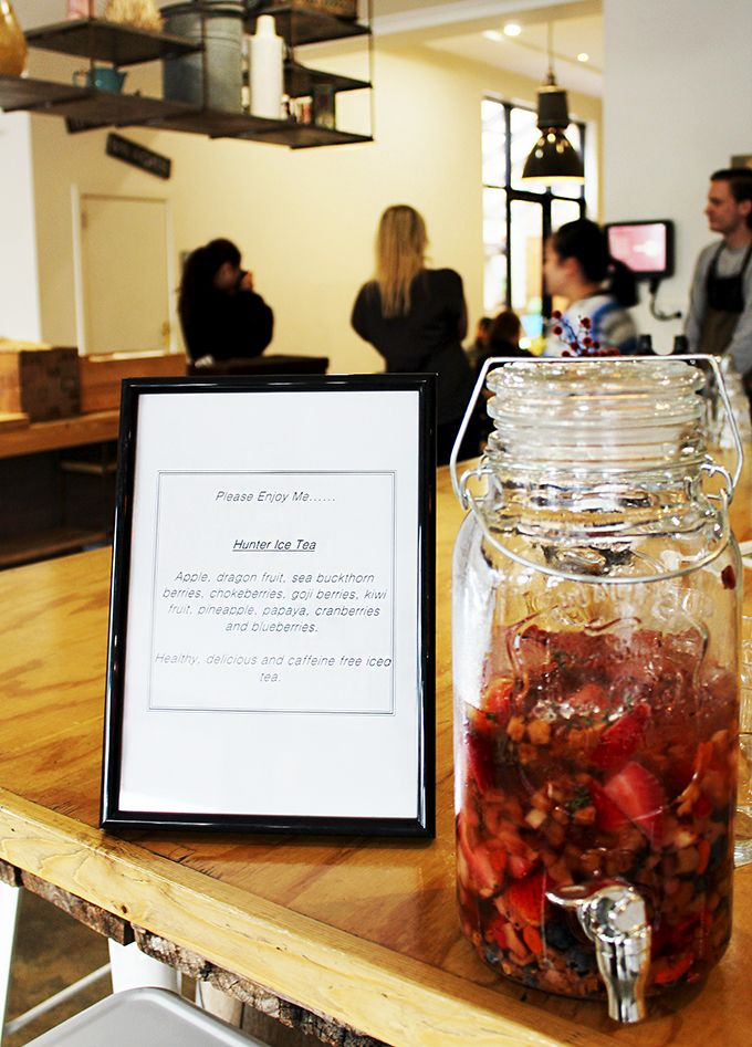 Hawk and Hunter Cafe launch their spring menu Iced tea