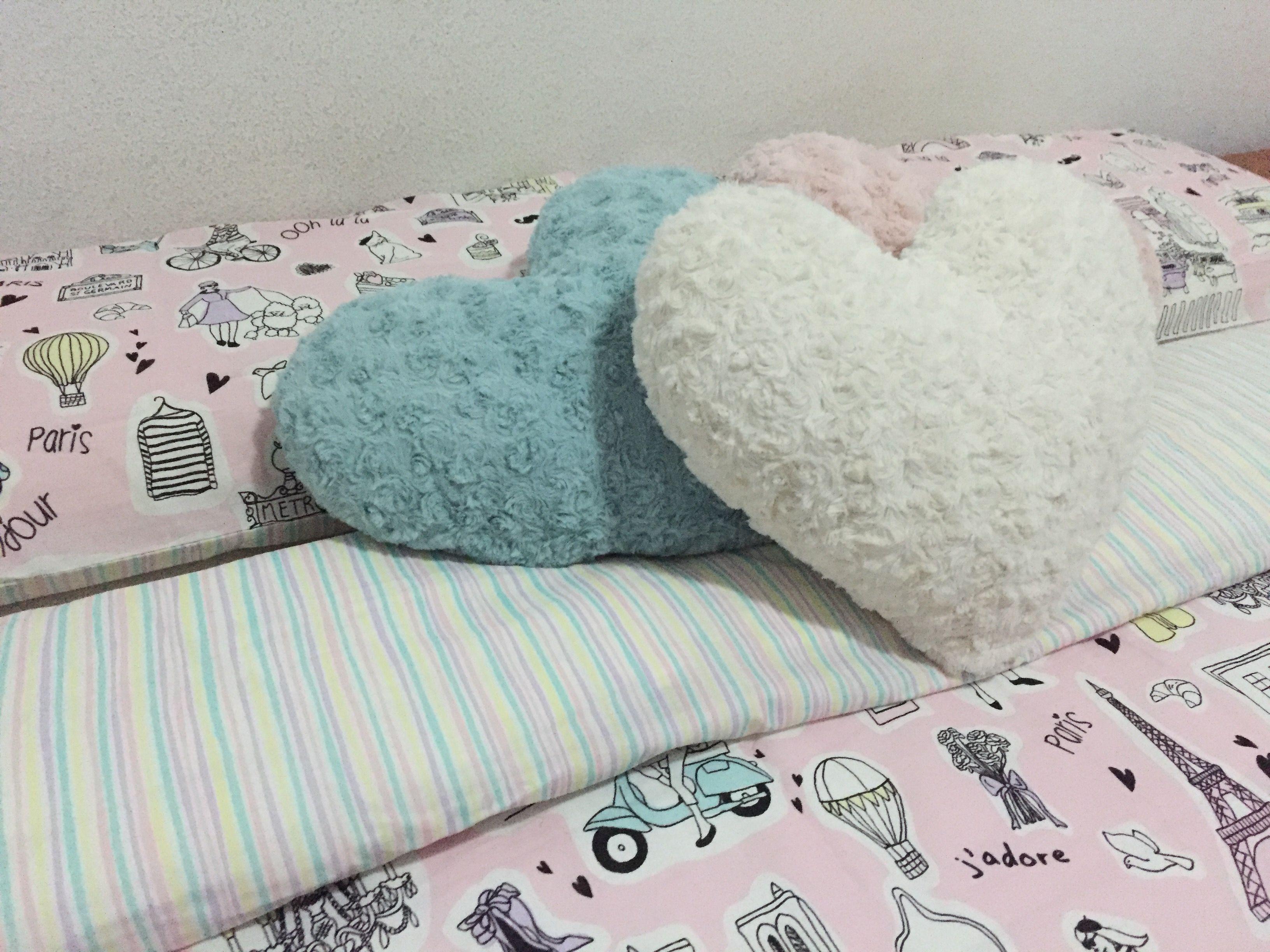 Dormitorio, textil de cama colores pastel Funda de edredón de
