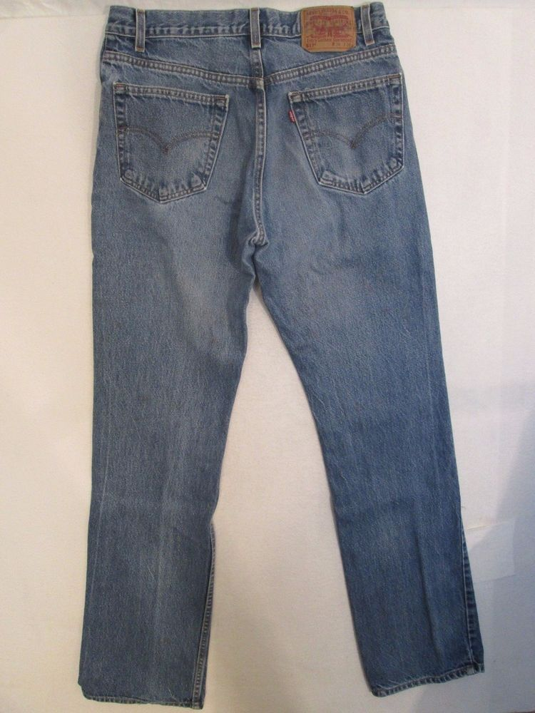 485-LEVIS 517 Red Tab Zipper Fly Boot Cut 100% Cotton Men's Jeans ...