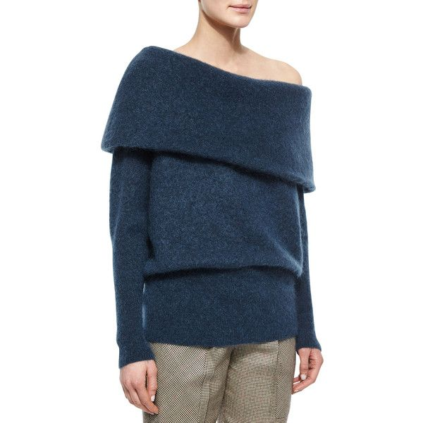 Acne Studios Oversized Off-The-Shoulder Sweater ($475) ❤ liked on ...
