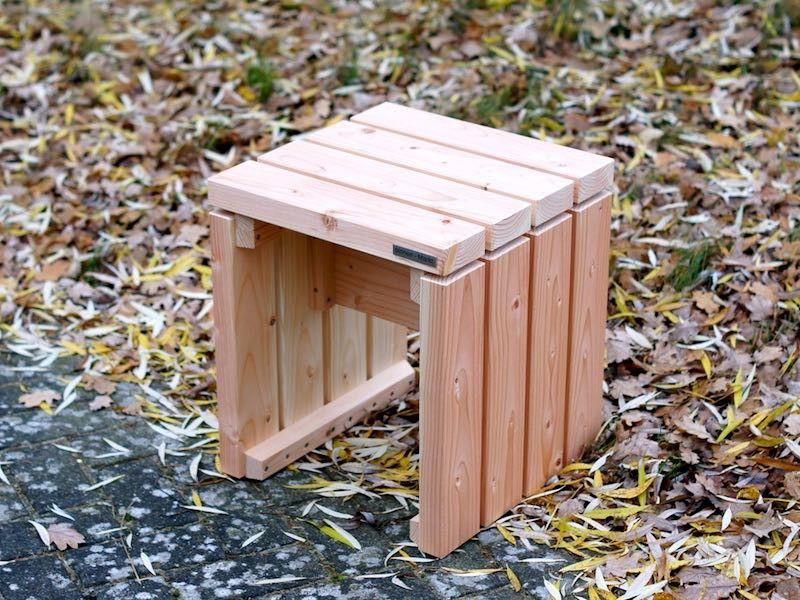 Garten Hocker Holz Oberflache Natur Auch In Grosse Oder Farbe Nach Wunsch Made In Germany Sitzbank Gartenecke G Gartenmobel Holz Hocker Holz Gartenmobel