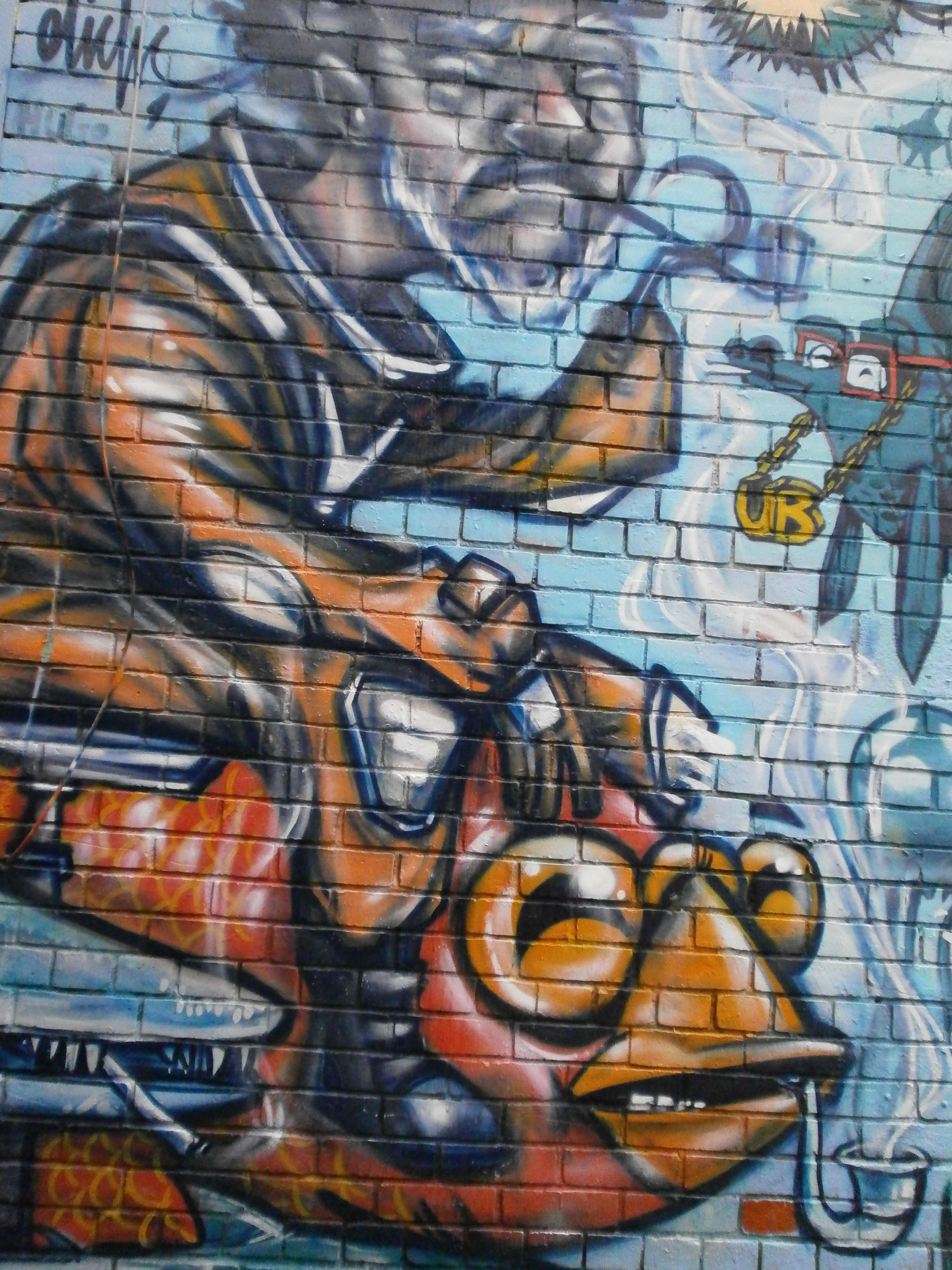 Graffiti art just south of queen street toronto ontario