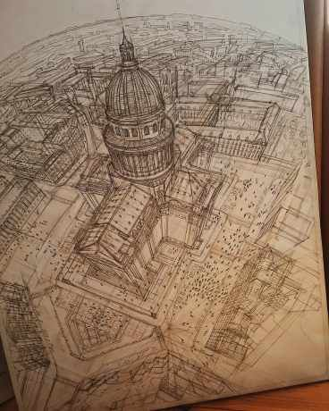 Artist Creates Meticulously Architecture Sketches of Buildings Around the World - Arch2O.com