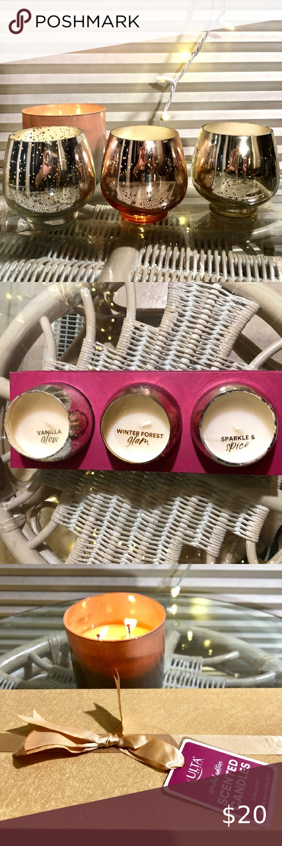 ULTA ️ 3 Piece Candle Set in 2020 Candle set, Candles