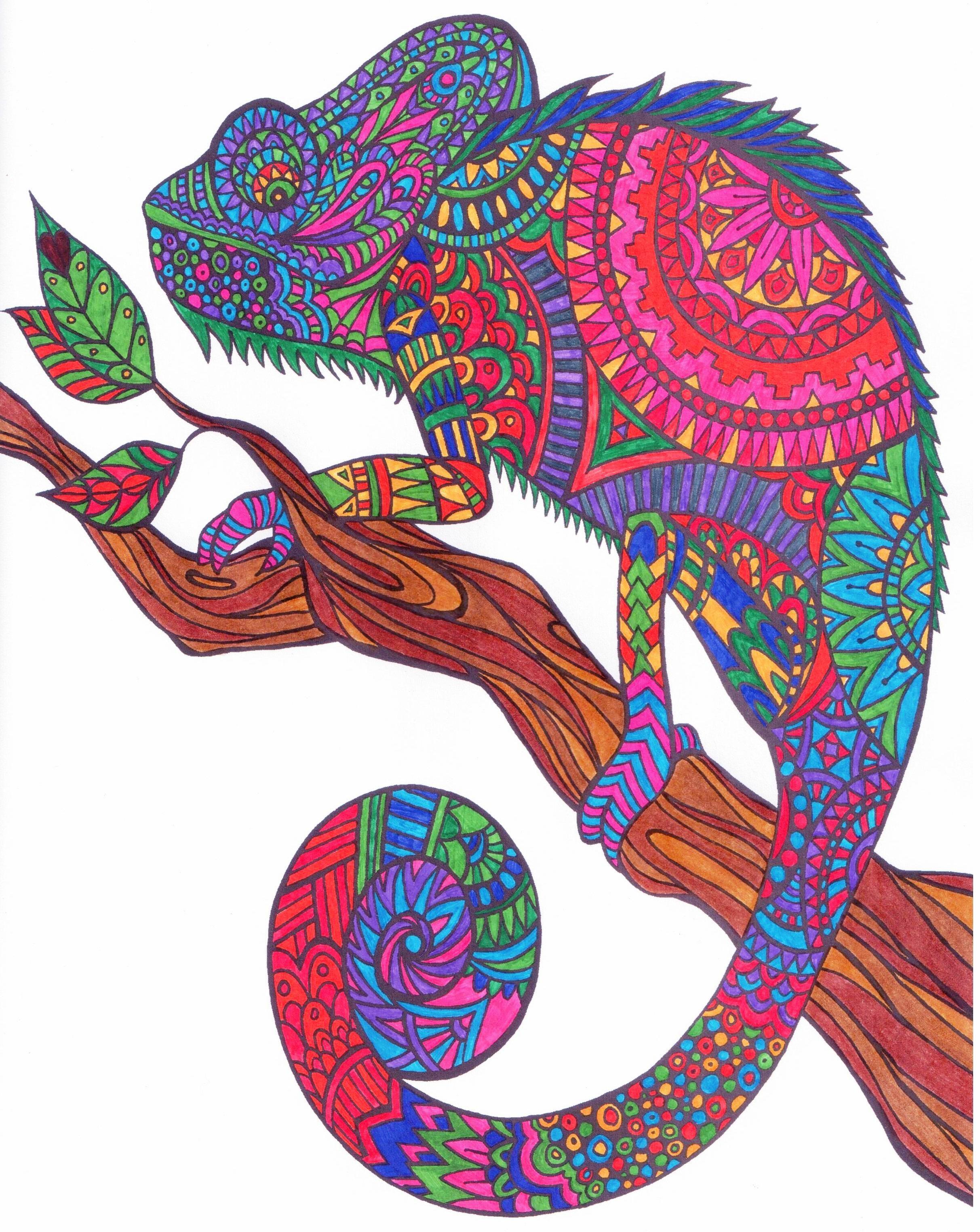 Kameleon Uit Het Blauwe Creatief Kleurboek Van Action Coloring Book Art Coloring Books Coloring Pages