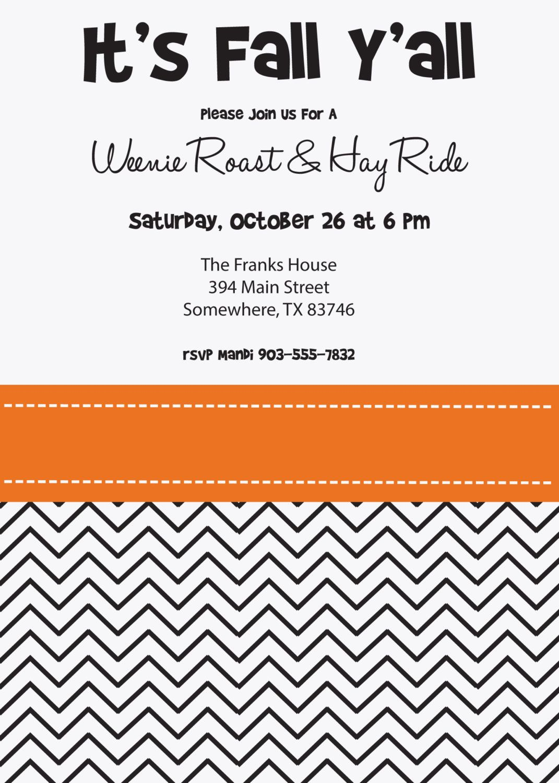 ITS FALL YALL Weenie Roast Bonfire Hayride Halloween Block Party ...
