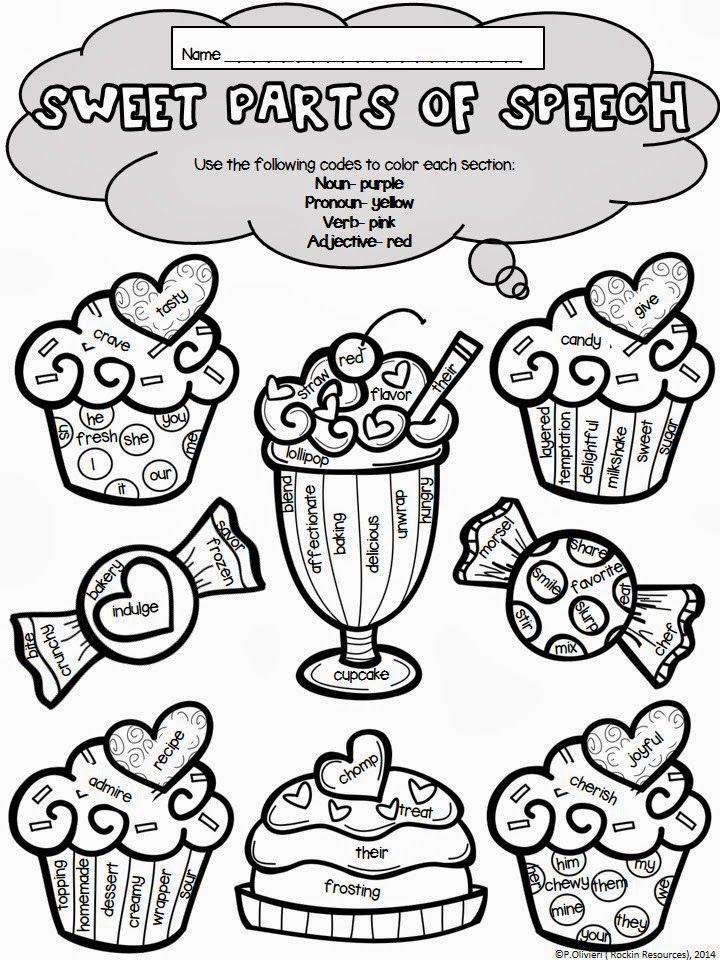 Valentines Day Sweet Parts Of Speech Thirdgradetroop