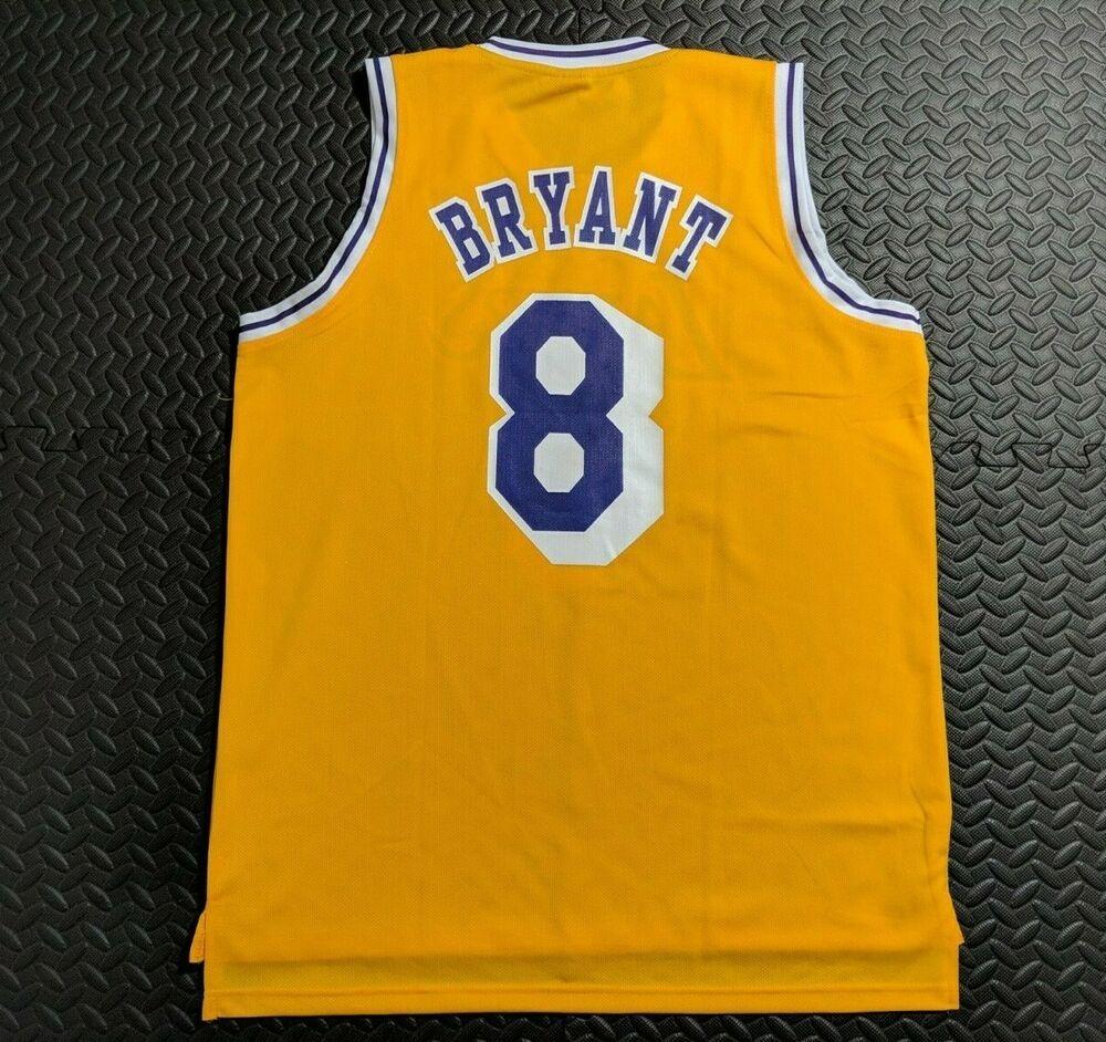 detailed look e3232 bc85c Vintage Men's Lakers Kobe Bryant #8 Yellow Jersey NBA Size X ...