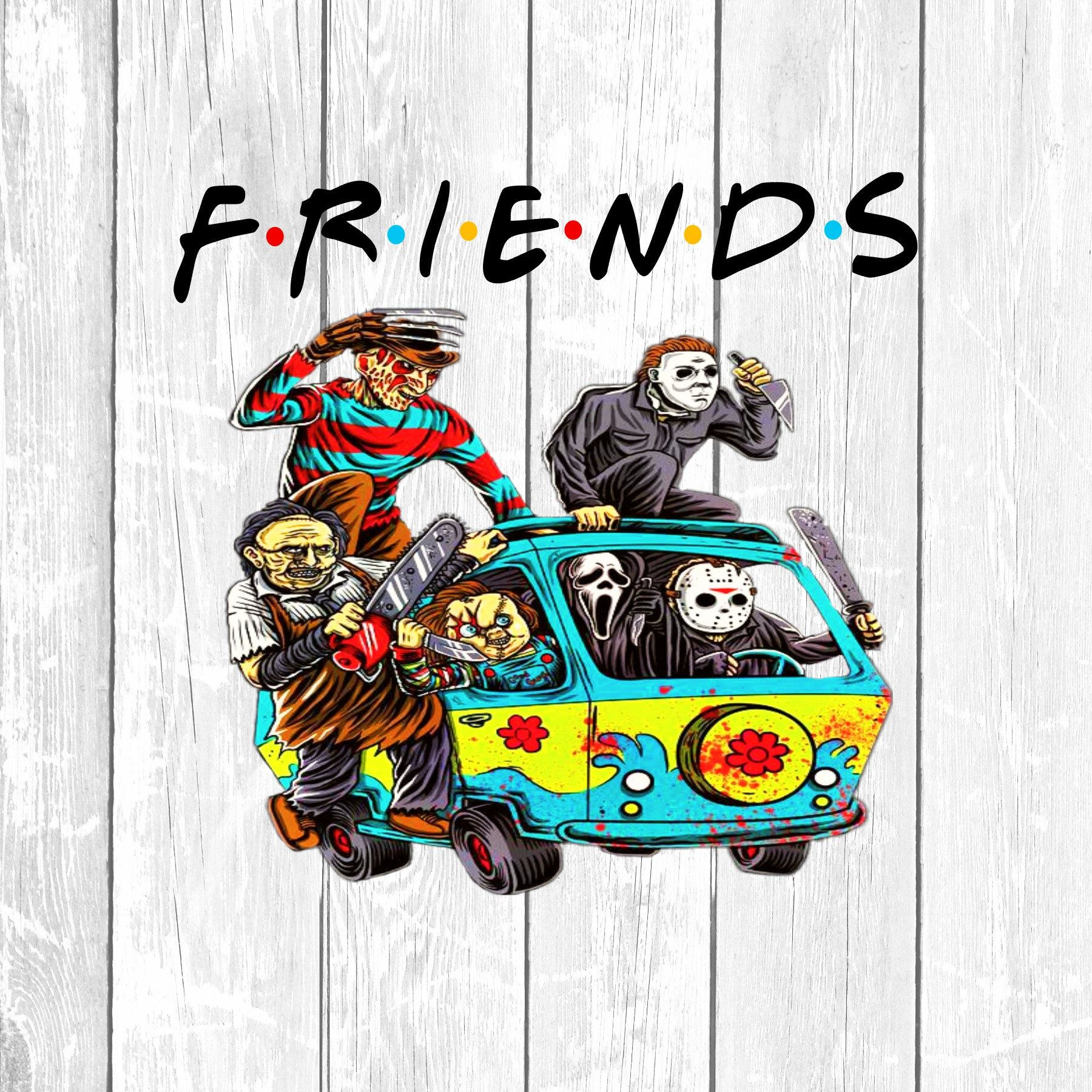 Jason and Friends Sublimation, Instant Download, Horror