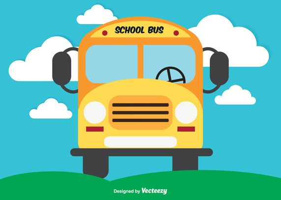 Cute School Bus Illustration With Images School Bus Bus Kids