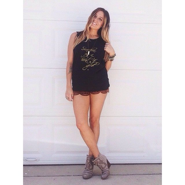Our 'Leon Suede Shorts' are high waisted goodness, and perfectly paired with this radical @_balm_ tank! Snag these shorts at www.thesoulfulgypsy.com