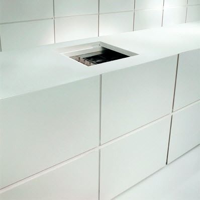 contemporary corian kitchen DOMANI minotti cucine | Kitchen :: White ...