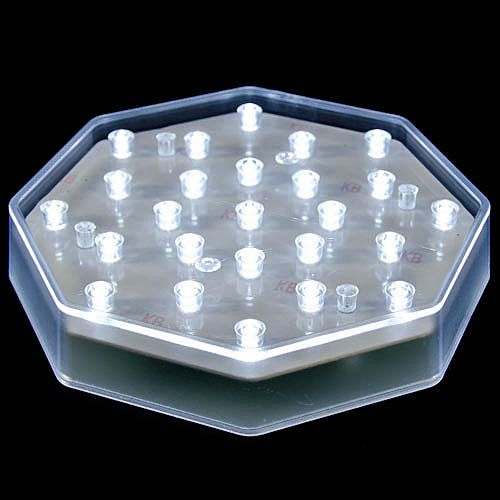 Check out the deal on 25 Clear LED Centerpiece Light Base - Battery Powered with AC Adapter at Battery Operated Candles