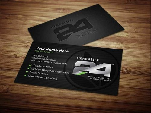 Herbalife 24 Business Cards 5 Customized